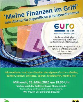 """Info-Abend 25.3.2020 für Jungverdienende """"Meine Finanzen im Griff"""""""