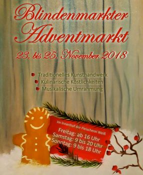 Blindenmarkter Adventmarkt 23.-25.11.2018