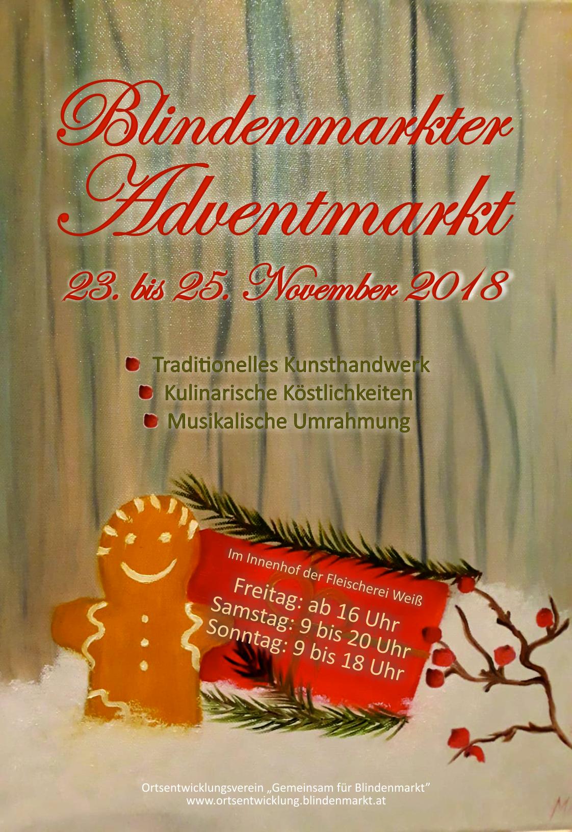 Blindenmarkter Adventmarkt 23.-25.11.2018
