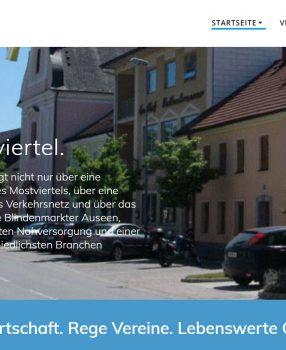 Webseiten für Blindenmarkter Betriebe und Vereine